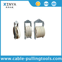 830mm Diameter Bundled Conductor Nylon Pulley Blocks With Three Wheels