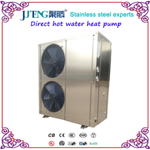 Stainless steel 18kW Instant Air source Horizontal R407C Air To Water 5hp Juteng Direct Heat Pump fast Hot Water Copeland