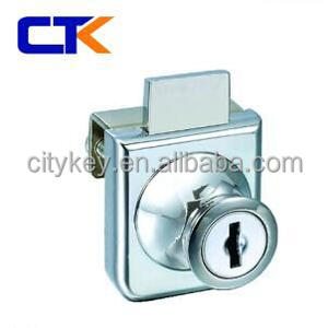 Zinc Alloy Metal furniture Cabinet glass door lock (407)
