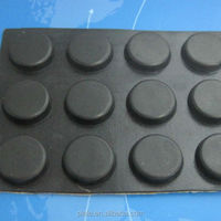 Supply black self adhesive rubber feet bumper
