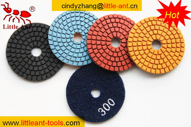 china made diamond polish pad , 100mm granite velcro buff pad , diamond tool polishing