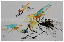 original art crane handpainted painting