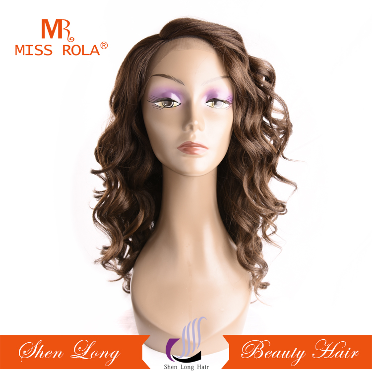 Newest style high quality Japanese fiber synthetic hair lace front wig with 5% human hair lace front wig