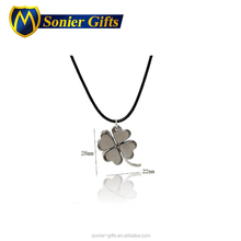 Custom the good quality olive four leaf clover heart pendant