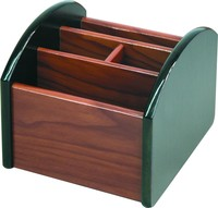 high quality mahogany rotary office wood pen container