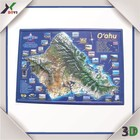 2015 USA map 3D embossed PVC poster