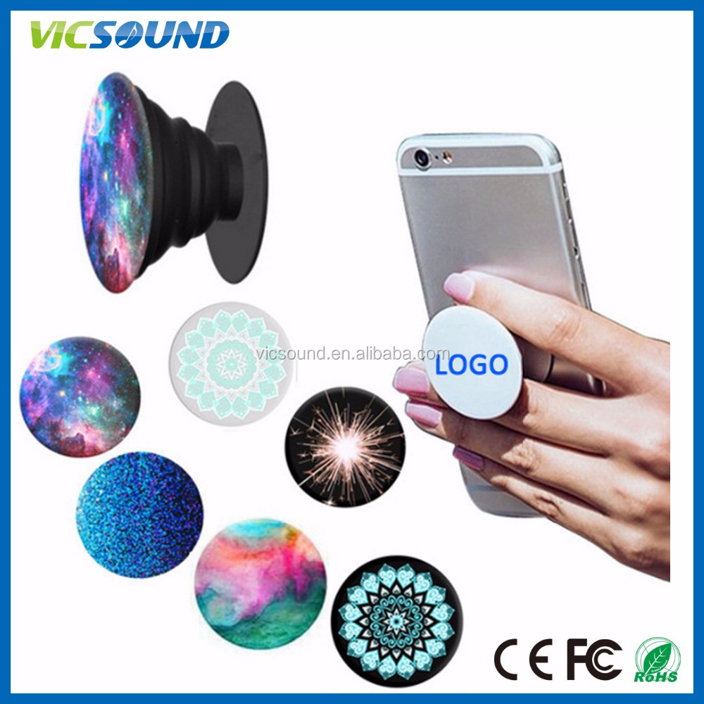 Universal PopSocketss Expanding <strong>Stand</strong> and Grip Flexible plastic phone holder pop up Socket 3M Glue for Mobiles Tablets Google pi