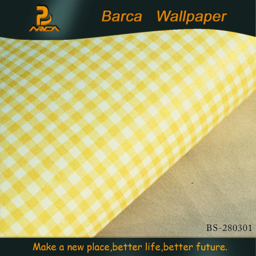 BS-280301 3d high quality tartan design Non-Woven wallpaper