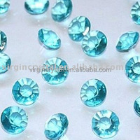 Aqua Blue Acrylic Diamond Scatter for Wedding table decoration
