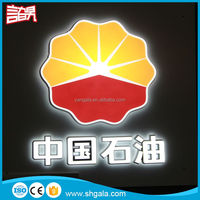 Economic Outdoor round outdoor light box sign