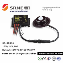 SRNE Solar Charge Controller with DC automatic detection for street light