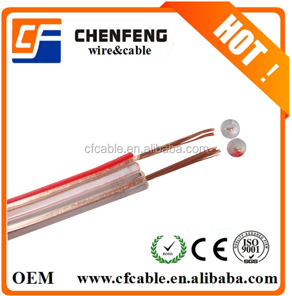Transparent Speaker Cable With Red Line