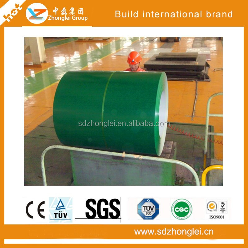 prime quality DX51D Z PPGI steel coil for roofing sheet /Shandong zhonglei
