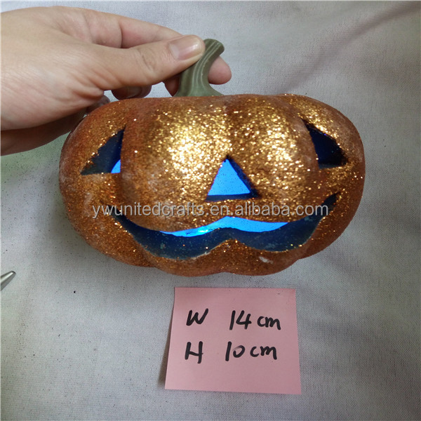 2016 Halloween decor glitter white foam craft pumpkins