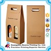 Custom Brown Kraft Corrugated Cardboard wine shipping box Wholesale