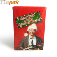 large christmas dvd metal case for decoration