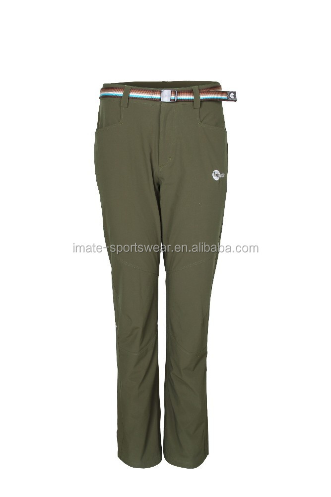 Unique men green long pants