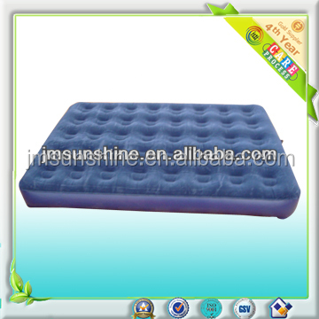 Luxury inflatable flocked pvc air bed furniture for single people or many people