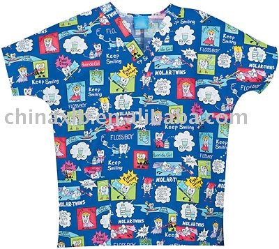 Scrubs - OP 100% Cotton Plaque Man Two Pocket Scrub Top