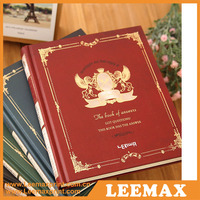 LM-0002 Japanese planner notebook a5, custom personalized classmate leather notebook a5 , custom Korean a5 school notebook