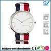 Stainless steel case japan movement slim line case water resistance 3ATM nato strap daniel wellington watch style