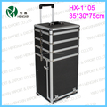 2017 New style Trolley aluminum cosmetic case multifunctional 4in1 makeup trolley case