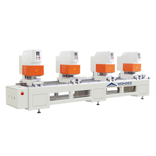 China Upvc window door processing machinery four head seamless welding machine