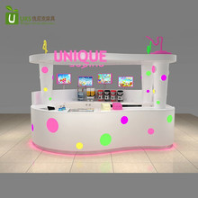 2017 elegant Mini Boba tea kiosk with bubble tea kiosk design for shopping mall