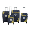 4 piece match printing spinner wheels zipper pocket nylon vintage classic trolley luggage bag