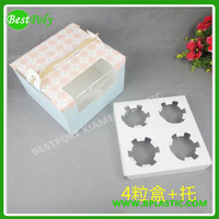 1 2 4 6 12 HIGH QUALITY CUSTOMIZE CUPCAKE BOX WITH INSERT WHOLESALE