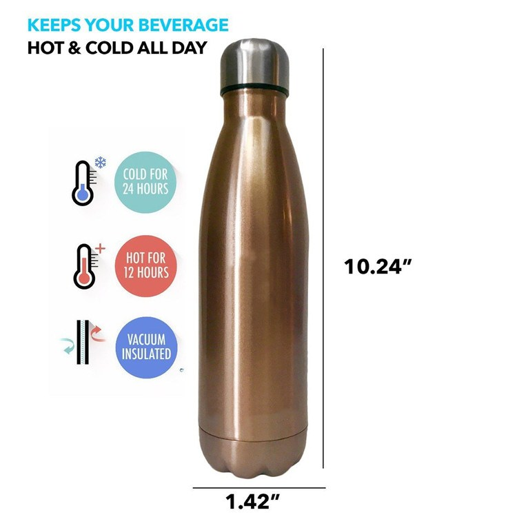 Double Wall Stainless Steel Vacuum Insulated sport bottle Cola Water Bottle