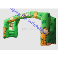 Fully digital printing sponsored inflatale double leg gantry for sale/ inflatable advertising arch