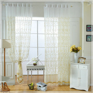 Embroidered style sheer curtains on sale with modern home design