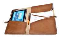 Brown Leather A4 Document Personalized Portfolio Case for Interviews and Work