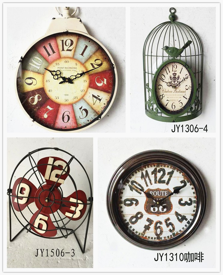 USA market wall clock
