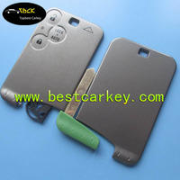 Topbest car key casing for smart card cover 3 button key