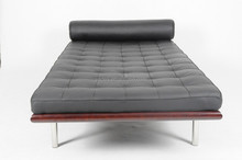Luxury genuine leather indoor daybed barcelona daybed by Van Der Rohe