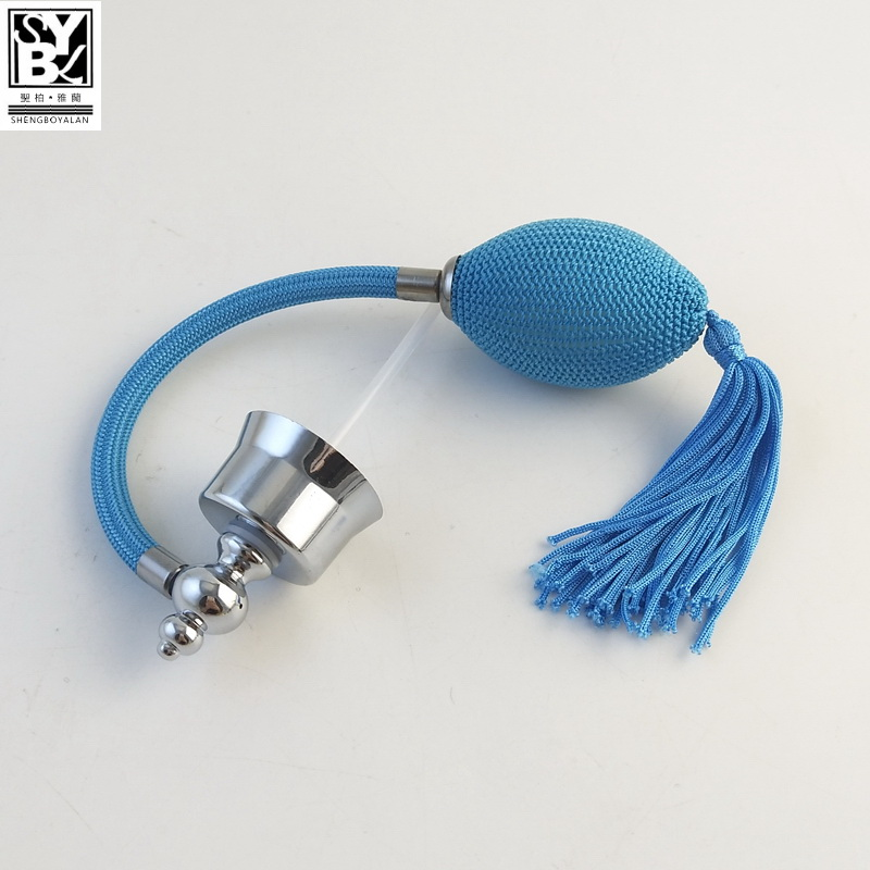 high quality colorful 24mm long tube perfume bulb sprayer with tassel