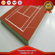 IAAF Approved outdoor volleyball court flooring /badminton court material acrylic sport field material