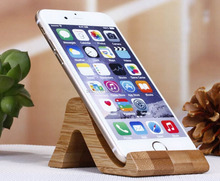 Wholesale Creative Universal Bamboo Cell Phone Holder pad Base Support New Design Mobile Phone Holder High Quality Phone Stander