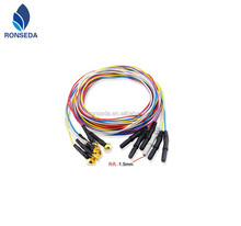New Molded Din 1.5 Colourful TPU jacket,EEG PATIENT CABLE ECG CABLE EKG Cable