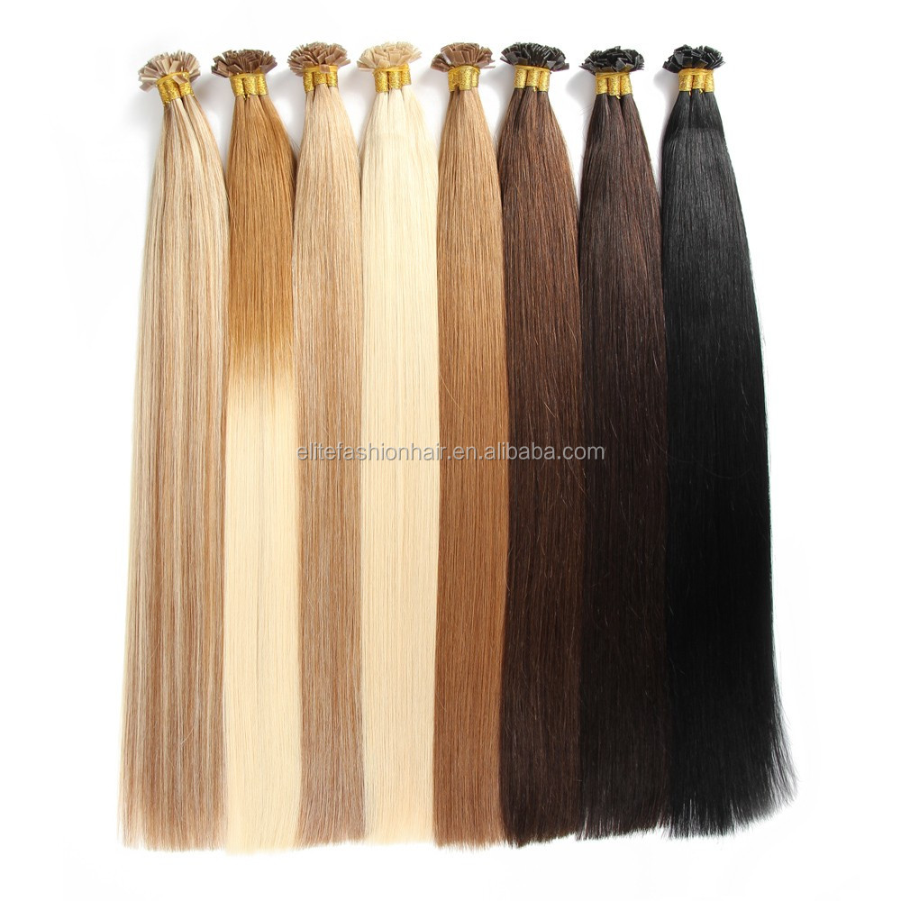 Alibaba Leading Hair Manufacturer Wholesale Cheap Price Cuticle Intact Tangle Free Indian Flat Tip Remy Hair Extension
