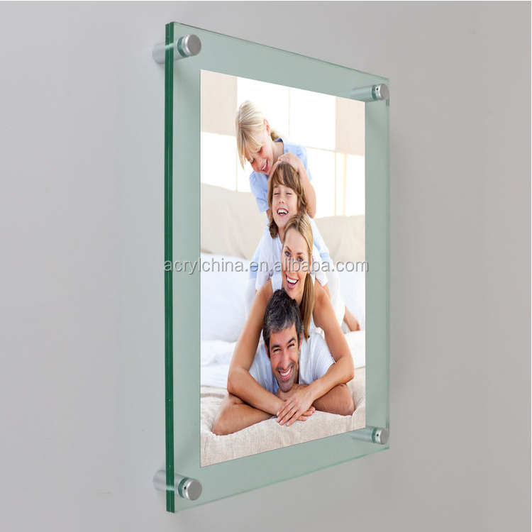 Wall Mounting Picture Frames Glass Effect Beautiful Photo Frames Acrylic Funny Photo Frames