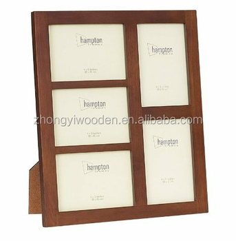 Wholesale high quality picture frame wood photo frame multi photo frame