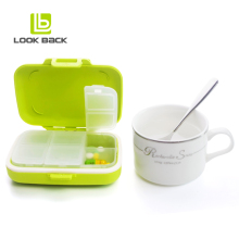 LOOK BACK New Design Pill Kit Multi-functional Plastic Pill Box with Lock Wholesale