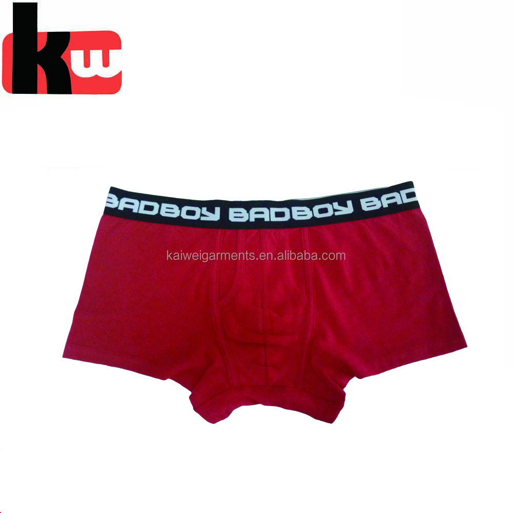 Underwear Men Boxer Briefs Custom Logo on Waistband Acceptable