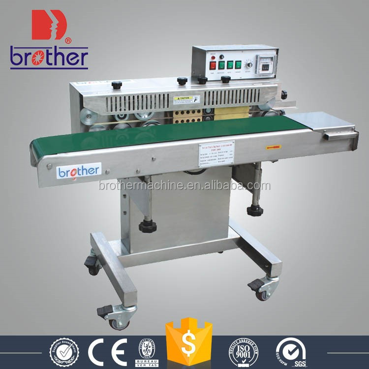 Brother Packing FRW200 Professional grade horizontal continuous band sealer plastic bag sealing machine