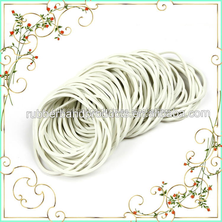43 MM Solid White Rubber Band , Natural Rubber Band For Cloth , High Quality Rubber Band