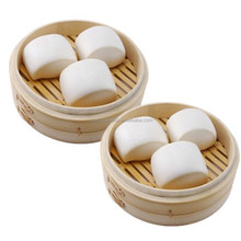 The steamed stuffed bun use natural bamboo food steamer cooker steam use