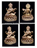 "10pcs Hand Carved Meditating Hindu Goddess Saraswati Resin Idol Sculpture Statue Size 6""x4.5"" wholesale lot"